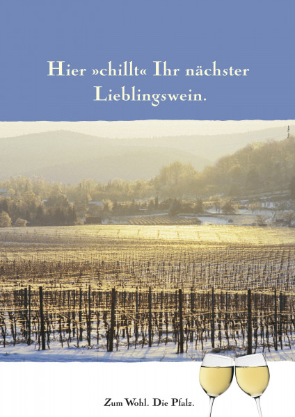 Plakat »Winter in der Pfalz«
