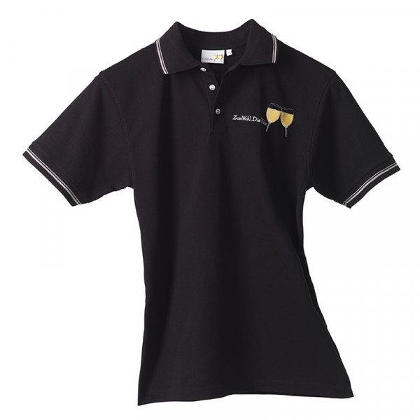 Damen Polo-Shirt schwarz