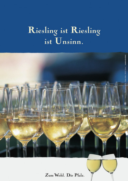 Plakat »Riesling ist Riesling ist Unsinn.«