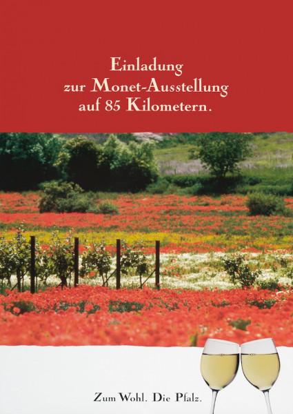 Plakat »Einladung zur Monet-Ausstellung auf 85 Kilometern.«