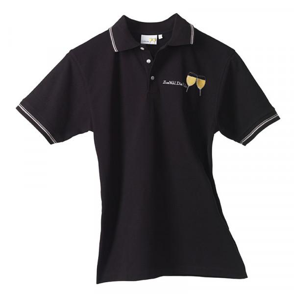 Polo-Shirt schwarz unisex